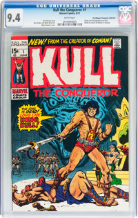 Kull the Conqueror #1 Don/Maggie Thompson Collection pedigree (Marvel, 1971) CGC NM 9.4 White pages