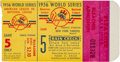 Baseball Collectibles:Tickets, 1956 New York Yankees vs. Brooklyn Dodgers World Series Game 5Ticket Stubs, Don Larsen Perfect Game, Lot of 2....