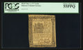 Colonial Notes:Delaware, Delaware May 1, 1777 2s 6d PCGS Choice About New 55PPQ.. ...