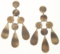 Celine Brass Chandelier Earrings