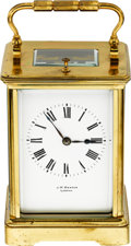 Timepieces:Clocks, J.W. Benson London Striking & Repeating Carriage Clock. ...