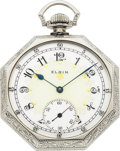 Timepieces:Pocket (pre 1900) , Elgin 23 Jewel 14k Gold Grade 194, Circa 1898. ...