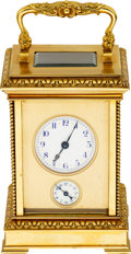 Timepieces:Clocks, French Carriage Clock With Alarm. ...