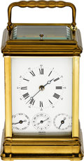 Timepieces:Clocks, L' Epée Striking & Repeating Carriage Clock With Alarm. ...