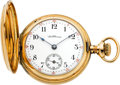 Timepieces:Pocket (post 1900), Waltham 19 Jewel 14k Gold Riverside Maximus, O size, Model 1900,Circa 1903. ...