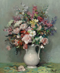 MARCEL DYF (French, 1899-1985) Roses et gueules de loup, 1970 Oil on canvas 30 x 24 inches (76.2