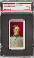 Baseball Cards:Singles (Pre-1930), 1909 E95 Philadelphia Caramel Johnny Evers PSA NM+ 7.5 - Pop One,One Higher....