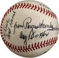 Autographs:Baseballs, 1962 Rogers Hornsby Single Signed Baseball, PSA/DNA NM+ 7.5....