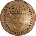 Baseball Collectibles:Balls, 1921 World Series Game Three Used Baseball Signed by George Kelly....
