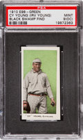 "Baseball Cards:Singles (Pre-1930), 1910 E98 ""Set of 30"" Cy Young (Green) ""Black Swamp Find"" PSA Mint 9(OC). ..."