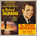 """Movie Posters:Crime, Speed Reporter (Reliable, 1936). Six Sheet (79"""" X 80""""). Crime.. ..."""