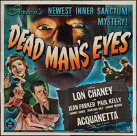 "Dead Man's Eyes (Universal, 1944). Six Sheet (79"" X 80""). Horror"
