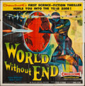 "Movie Posters:Science Fiction, World Without End (Allied Artists, 1956). Six Sheet (79"" X 80"").Science Fiction.. ..."