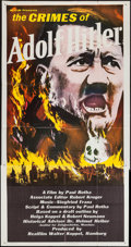 """Movie Posters:Documentary, The Crimes of Adolf Hitler (MGM, 1961). Three Sheet (41"""" X 79""""). Documentary.. ..."""