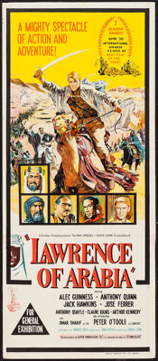 "Lawrence of Arabia (Columbia, 1962). Australian Daybill (12.75"" X 30""). Academy Award Winners"