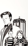 "Original Comic Art:Covers, Dave Sim Doctor Who: Prisoners of Time #11 ""BBC Censors DaveSims"" Variant Cover Original Art (IDW, 2013)...."