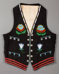 American Indian Art:Beadwork and Quillwork, A PRAIRIE BOY'S BEADED CLOTH VEST...