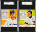 Baseball Cards:Lots, 1953 Red Man Rizzuto & Reese SGC 88 NM/MT 8 Pair (2). ...