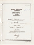 Explorers:Space Exploration, Apollo 11 Eagle Grumman Apollo Operations Handbook -Lunar Module 5, Volume 1 Book....