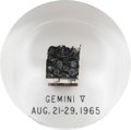 Explorers:Space Exploration, Gemini 5 Flown Heat Shield Plug in Lucite Display. ...