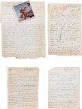 Explorers:Space Exploration, Jack Swigert Archive of Letters to Actress Dolores Hart, 1961-1963.... (Total: 6 Items)