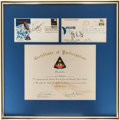 Explorers:Space Exploration, Apollo 8 Crew-Signed First Day Cover in Framed Display withCertificate of Participation. ...