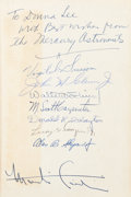 Autographs:Celebrities, Mercury Seven Astronauts: Martin Caidin's The Astronauts Book Signed by All plus the Author. ...