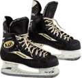 Hockey Collectibles:Equipment, 1999 Brett Hull Signed Game Worn Skate From Playoffs & Stanley Cup Finals With Equipment Manager Provenance. ...