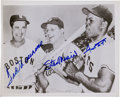 Autographs:Photos, Circa 1990 Ted Williams, Stan Musial & Willie Mays Multi SignedPhotograph....