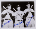 Autographs:Photos, 1990's Mickey Mantle, Joe DiMaggio & Ted Williams Multi Signed Photograph....