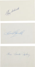 Autographs:Index Cards, 1919 Chicago White Sox Signed Index Cards Lot of 3....