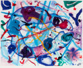 Prints, SAM FRANCIS (American, 1923-1994). Trietto IV, 1991. Aquatint in colors. 37-3/4 x 46-7/8 inches (96.0 x 119.1 cm) sight...