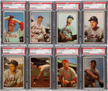 Baseball Cards:Lots, 1953 Bowman Color Baseball PSA NM+ 7.5 and NM 7 Collection (11)....