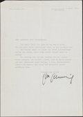 Boxing Collectibles:Autographs, 1964 Max Schmeling Signed Letter....