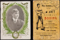 Boxing Collectibles:Memorabilia, 1886 and 1912 Boxing Publications Lot of 2....