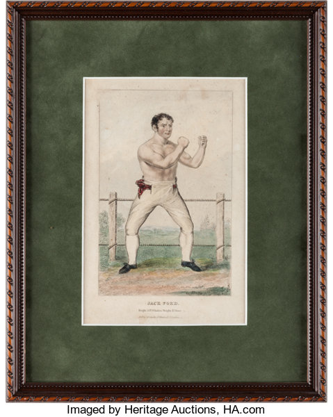 19th Century Boxing Framed Illustrations, Photographs, Etc. Lot ...