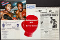 Boxing Collectibles:Memorabilia, Muhammad Ali Promotional Pieces Lot of 6....