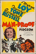 "Movie Posters:Comedy, Man-Proof (MGM, 1938). One Sheet (27"" X 41"") Style C. Comedy.. ..."