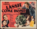 """Movie Posters:Adventure, Lassie Come Home (MGM, 1943). Half Sheet (22"""" X 28"""") Style B.Adventure.. ..."""