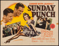 """Movie Posters:Sports, Sunday Punch (MGM, 1942). Half Sheet (22"""" X 28""""). Sports.. ..."""