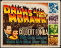 "Movie Posters:Adventure, Drums Along the Mohawk (20th Century Fox, R-1947). Half Sheet (22""X 28""). Adventure.. ..."