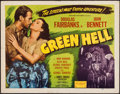 "Movie Posters:Adventure, Green Hell (Realart, R-1947). Half Sheet (22"" X 28""). Adventure....."