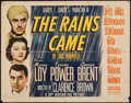 "Movie Posters:Adventure, The Rains Came (20th Century Fox, 1939). Half Sheet (22"" X 28"")Style B. Adventure.. ..."