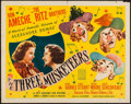 "Movie Posters:Swashbuckler, The Three Musketeers (20th Century Fox, 1939). Half Sheet (22"" X 28""). Swashbuckler.. ..."
