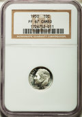 Proof Roosevelt Dimes: , 1950 10C PR67 Cameo NGC. NGC Census: (88/27). PCGS Population(72/16). ...