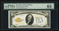 Small Size:Gold Certificates, Fr. 2400 $10 1928 Gold Certificate. PMG Choice Uncirculated 64.. ...