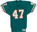 Football Collectibles:Uniforms, Early 1980's Glenn Blackwood Game Worn Miami Dolphins Jersey - Killer B Member....