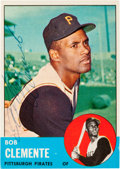 Autographs:Sports Cards, Signed 1963 Topps Roberto Clemente #540 PSA/DNA NM 7. ...