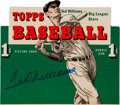 Autographs:Others, 1954 Ted Williams Signed Topps Wax Box Top....