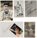 Autographs:Photos, 1940-50 Ted Williams Signed Type I Photographs Lot of 5....